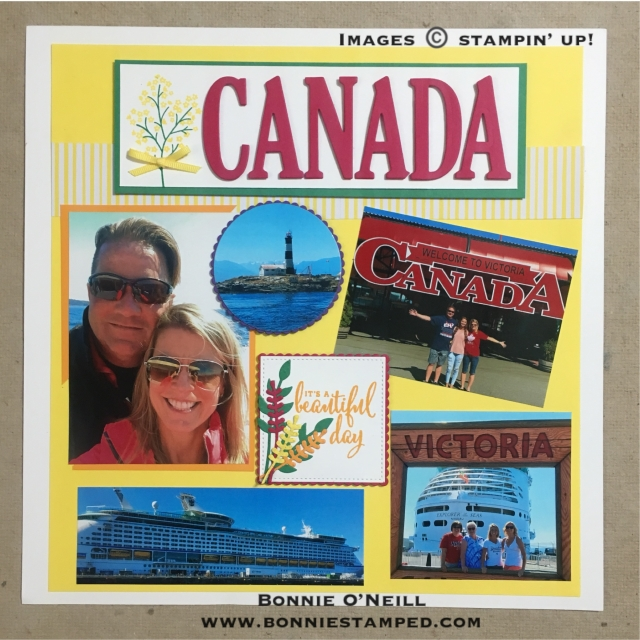 #bonniestamped #colorfusersbloghop #scrapbook #incentivetrip #alaskaSU2018