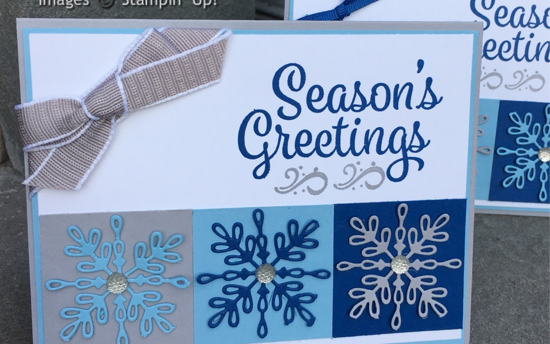 Season's Greetings with the Snowflake Sentiments Stamp Set