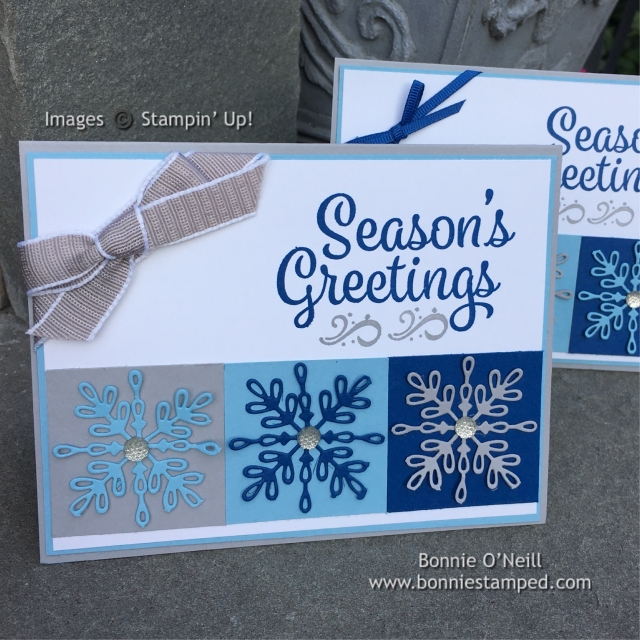 #snowflakesentiments #holidaycardclass #bonniestamped #swirlysnowflakes