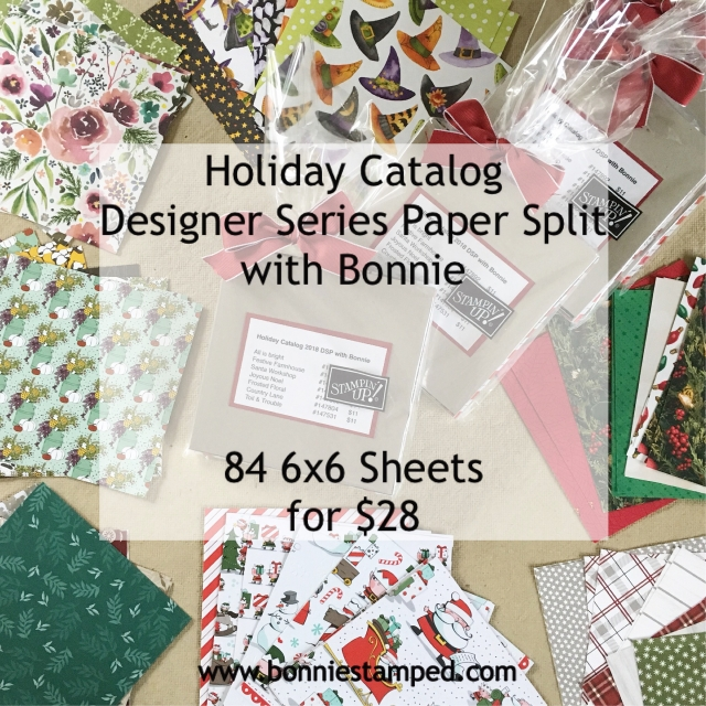 #holiday #dsp #bonniestamped #papersplit #stampinup