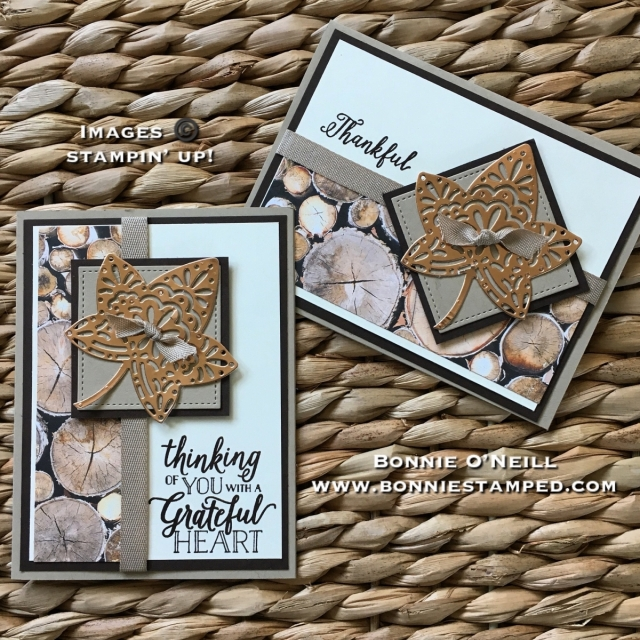 #coppersheets #fallingforleaves #bonniestamped #fallcards #woodtextures #stampinup