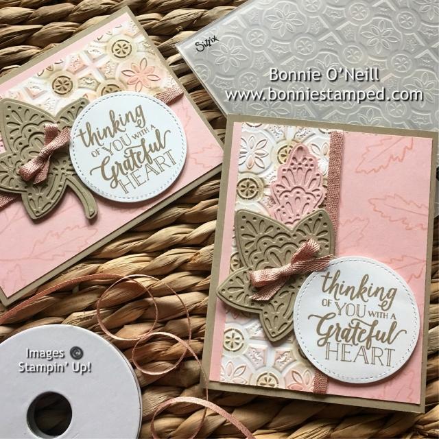 #fallingforleaves #bundle #stampinup #bonniestamped #holidaycatalog #cardclass