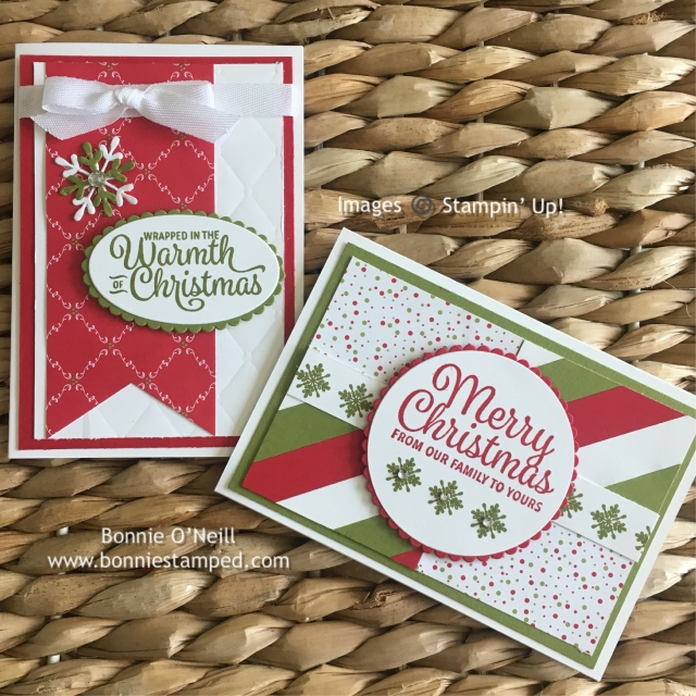 #snowflakesentiments #holidaycardclub #stampinup #bonniestamped