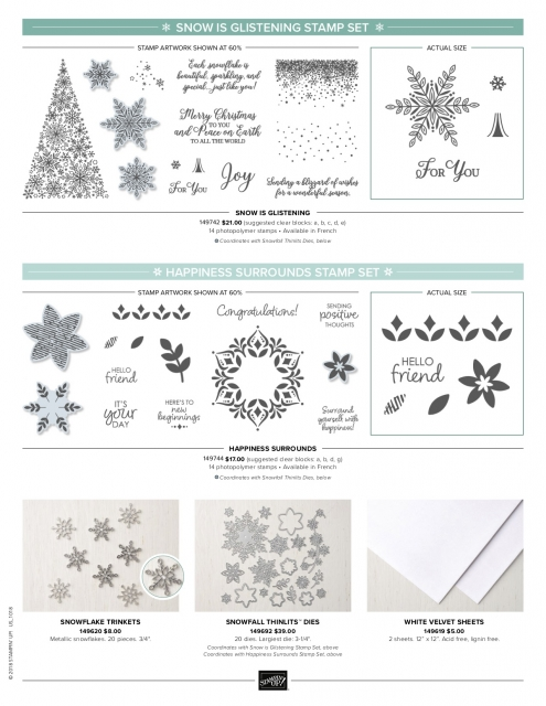 #snowflakeshowcase #bonniestamped #stampinup #limitedproduct #snowisglistening