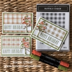 Buffalo Check Stamp Set with Stampin' Blends
