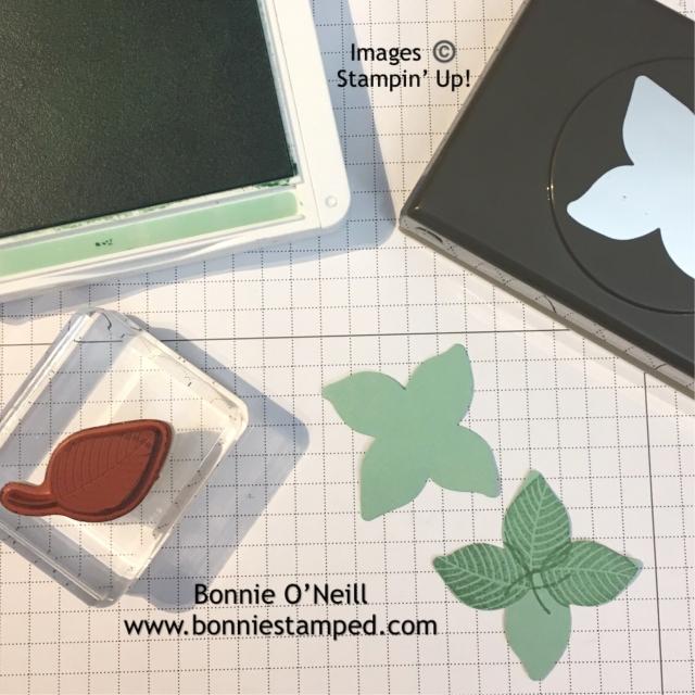 #spongedauber #leaf #bonniestamped