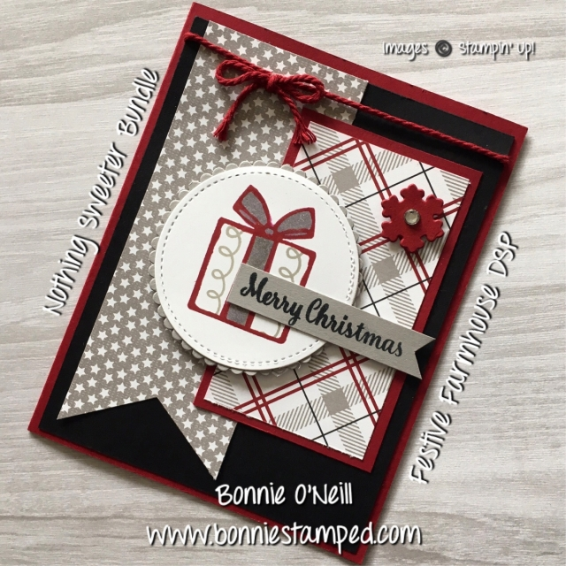 #nothingsweeter, #bonniestamped #stampinup #holidaycardclub