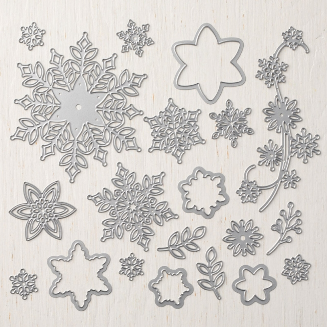 #snowfall #thinlits #stampinup