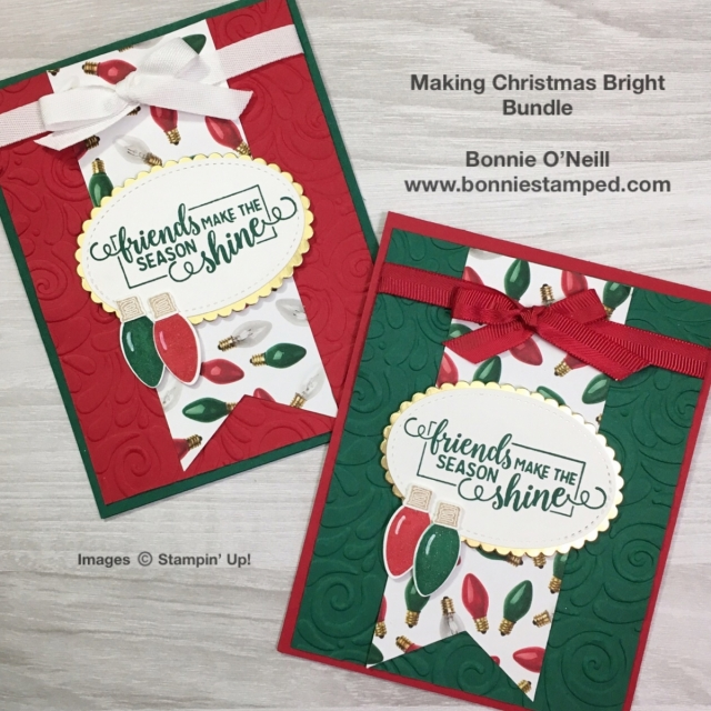 #makingchristmasbright #bonniestamped #stampinup