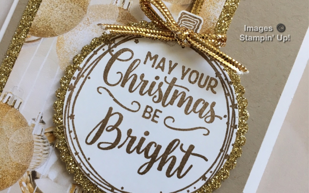 Making Christmas Bright Gold Note Card