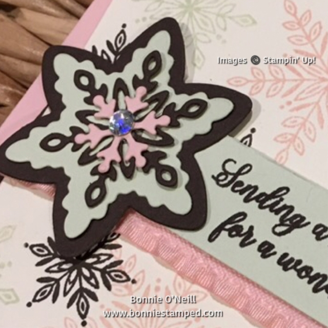 #snowisglistening #bonniestamped #snowfallthinlits #stampinup #limitedproducts