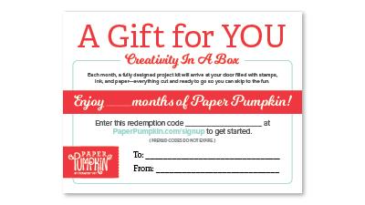 #giftforyou #paperpumpkin #stampinup #bonniestamped