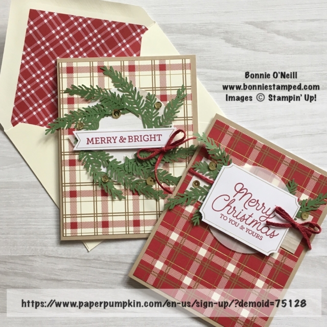 #bonniestamped #stampinup #paperpumpkin #holidaycards