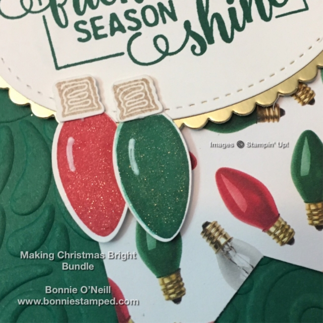 #makingchristmasbright #stampinup #bonniestamped