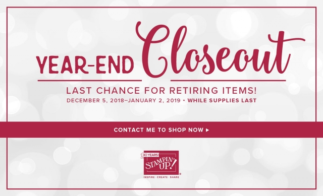 #lastchance #bonniestamped #yearend #sale #retiringproduct #stampinup