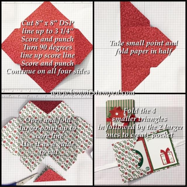 #giftcardholder #bonniestamped #stampinup