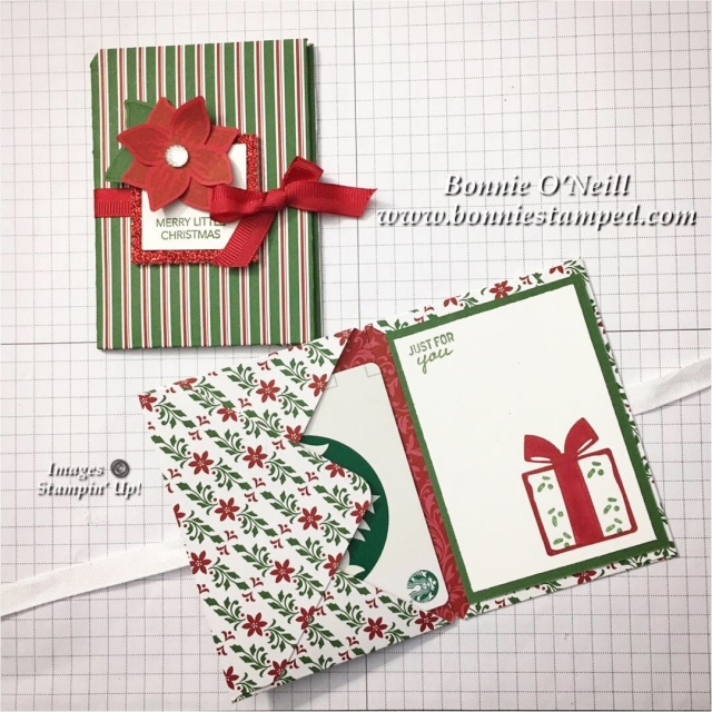 #giftcardholder #bonniestamped #stampinup #dashingalong