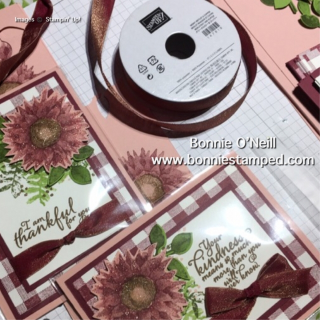 #paintedharvest, #buffalocheck, #bonniestamped, #stampinup #cardswap #onstage