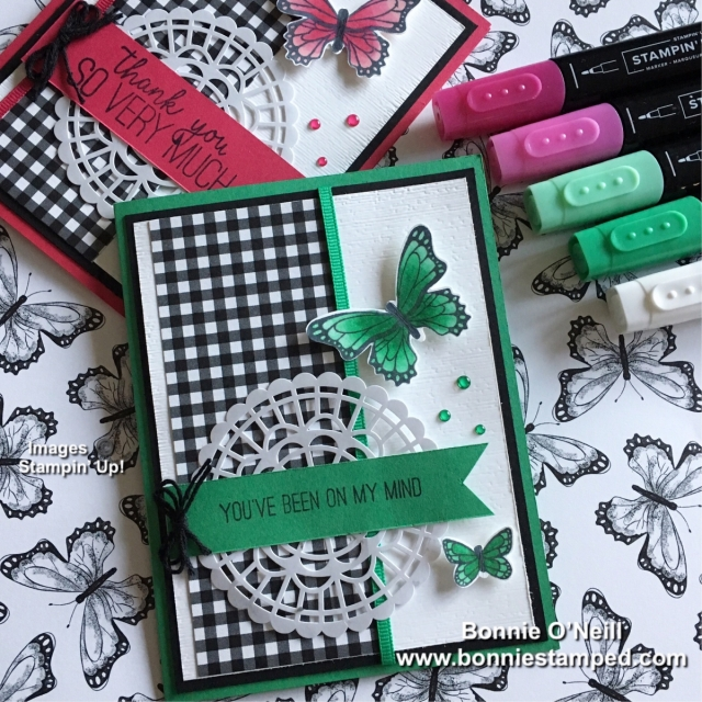#bonniestamped #butterflygala #stampinup #stampinblends
