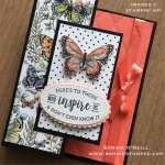 Fun Folded Botanical Butterfly Card