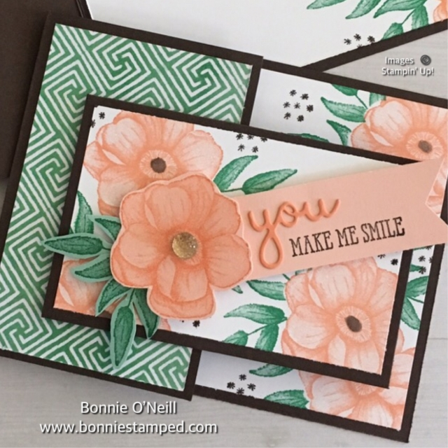 #bonniestamped #funfoldedcard #paintedseasons #saleabration