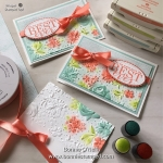 Note Card featuring the Country Floral Embossing Folder
