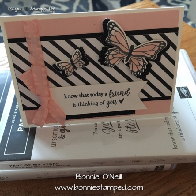 #bonniestamped #stampinup #cardclub #partofmystory #botanicalbutterfly