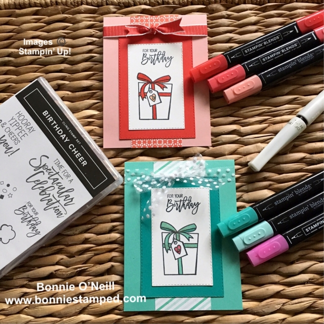 #birthdaycheer #retiringproduct #bonneistamped #stampinup #stampinblends
