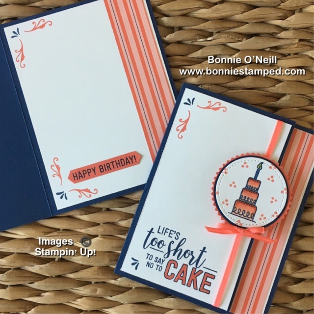 #amazinglife #bonniestamped #stampinup #cardclub