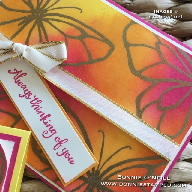 #bonniestamped #stampinup #colorfusersbloghop #embossing #sponging #beautifulday