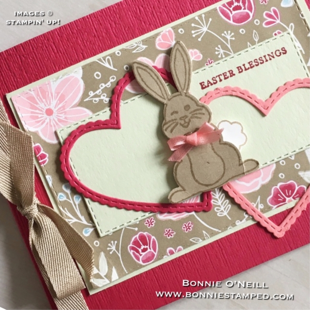 #bunnybuilderpunch #bonniestamped #stampinup #easter #bemineframelits