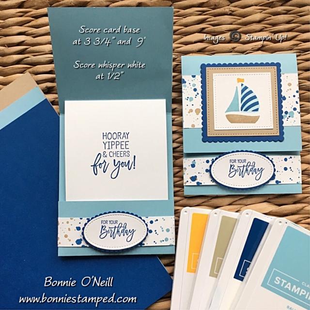 #bonniestamped #funfoldedcards #stampinup #swirlybird #birthdaycheer