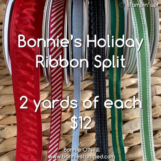 Holiday Ribbon Split with Bonnie