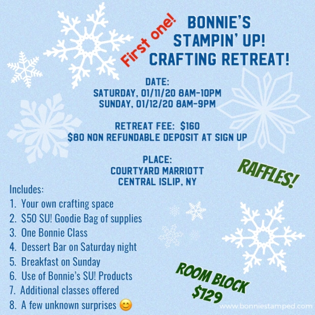 Bonnie's FIRST EVER Crafting Retreat