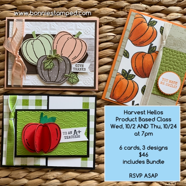 Harvest Hellos Product Based Class