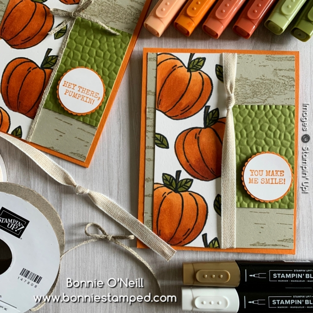 Harvest Hellos with Stampin' Blends