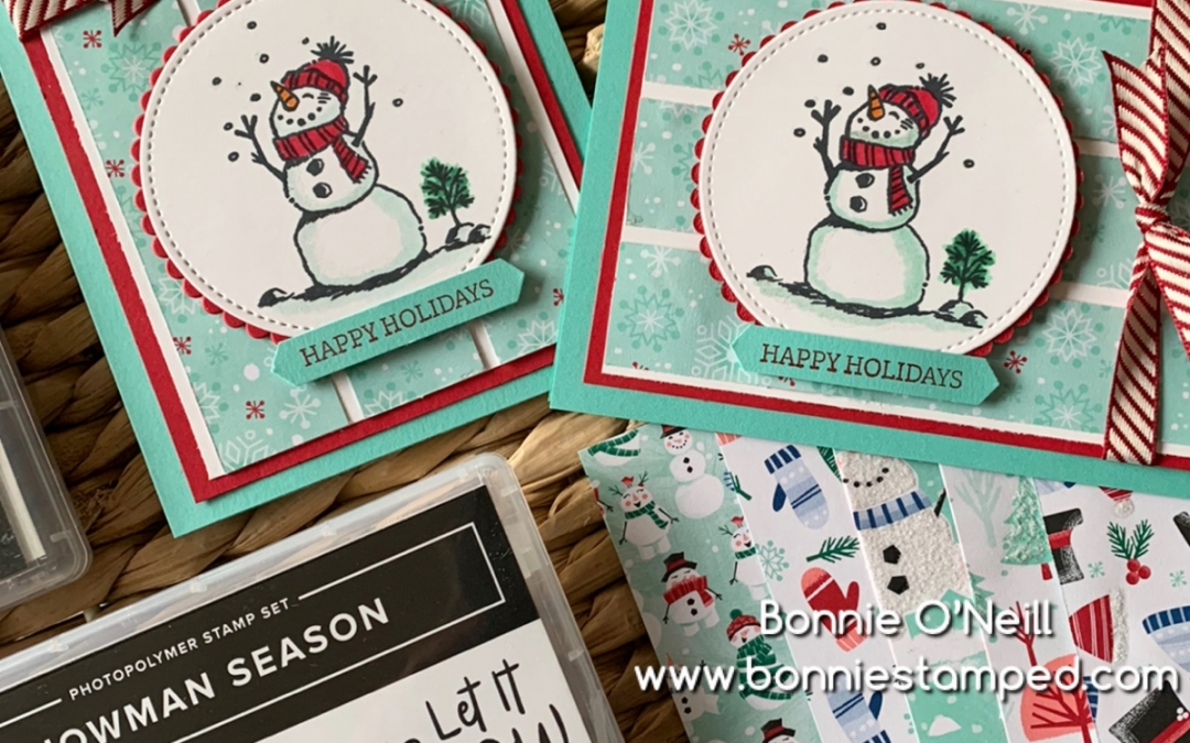 October's Holiday Card Club Snowman Season