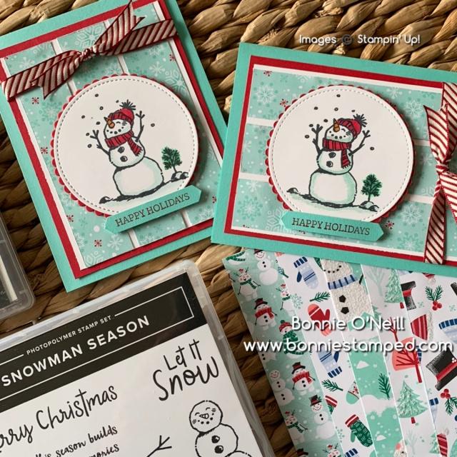 October's Holiday Card Club Snowman Season