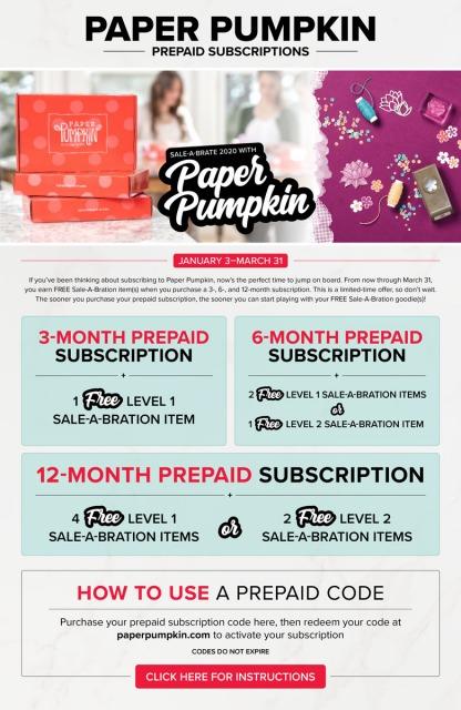 Prepaid Paper Pumpkin Subscriptions!